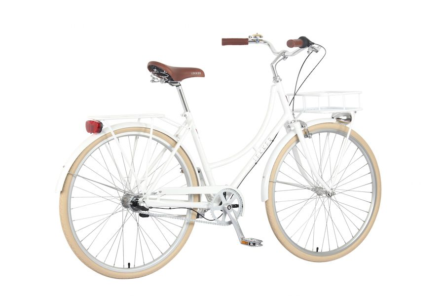 Lekker Bikes Retro Vintage Women Bike Pearl White Diagonal