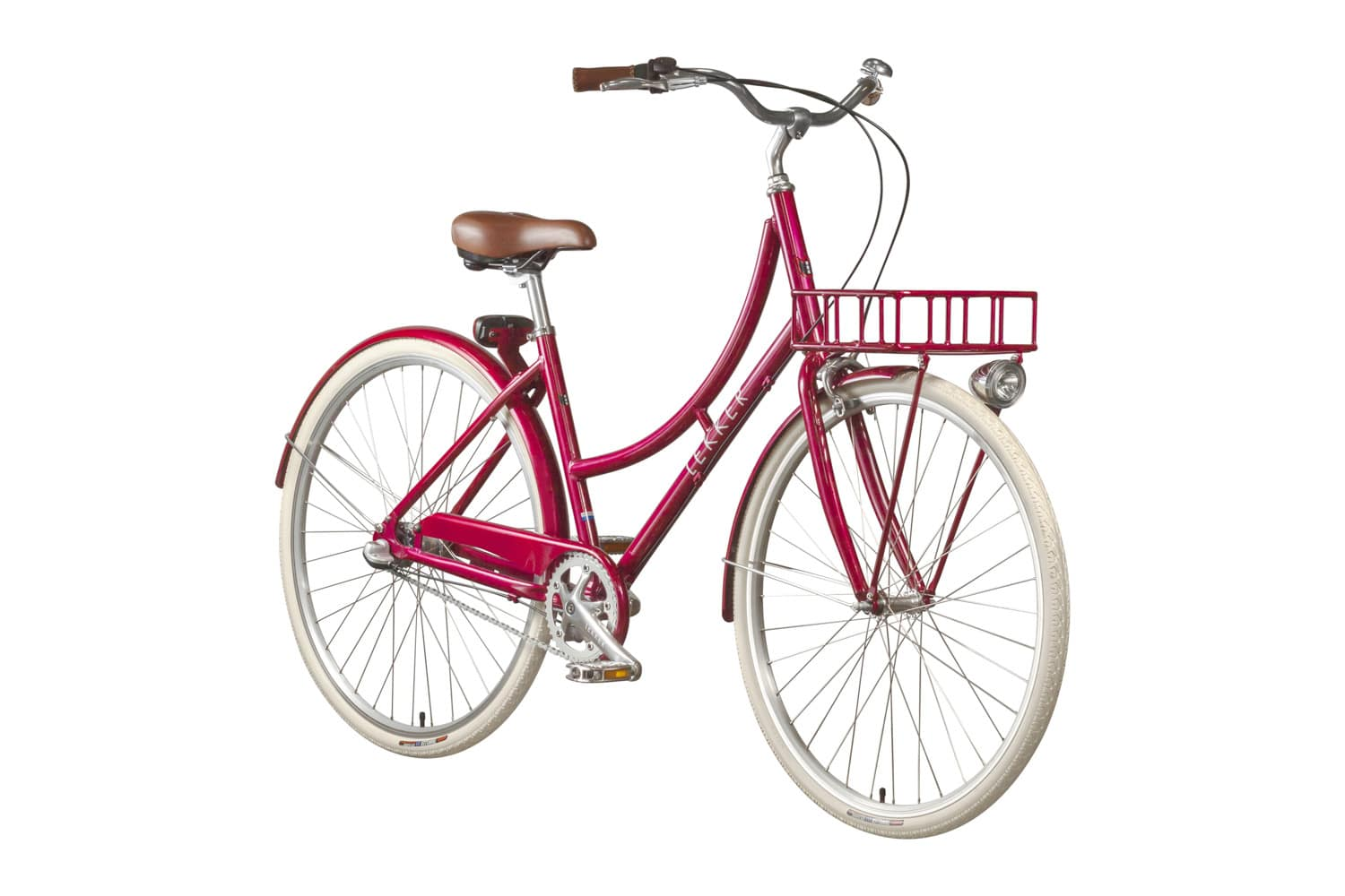 Lekker Sportief Candy Red Premium Dutch Bike Retro Vintage Bike