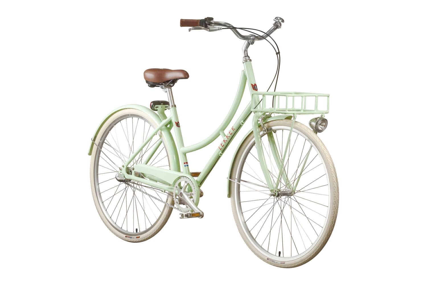 Lekker Sportief Pastel Green Premium Dutch Bike Retro Vintage Bike