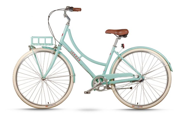 Lekker Sportief Womens Pastel Green with brown girps and saddle