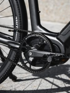 Close up of black bicycle pedals